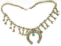 squash blossom Indian necklace 1900