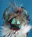 Black Nataska kachina doll