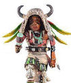 Buffalo dancer kachina doll