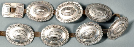 Silver Concha Belt Made in 1900