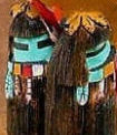 Long-haired Dancer kachina doll
