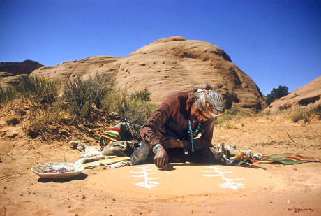 Navajo Indian Spiritual Sandpainter