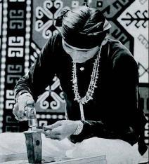 Navajo Indian Silversmith, 1940