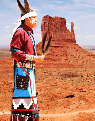 Navajo Indian on Reservation