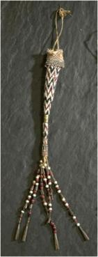 Apache Indian peyote stitch beaded quirt