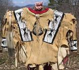 Early example of Apache Indian shirt decorated with beads