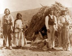 apache indian family wearing jewelry