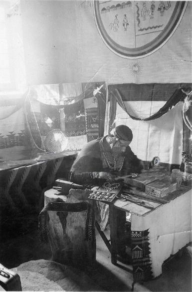 Hopi Silversmith Making Jewelry in 1930