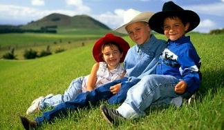Kids Wearing Cowboy Hats
