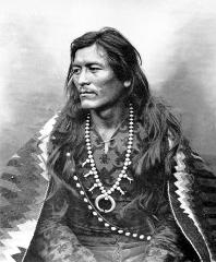 navajo indian wearing Native American jewelry