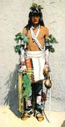 Santo Domingo Indian Dressed For the Corn Dance